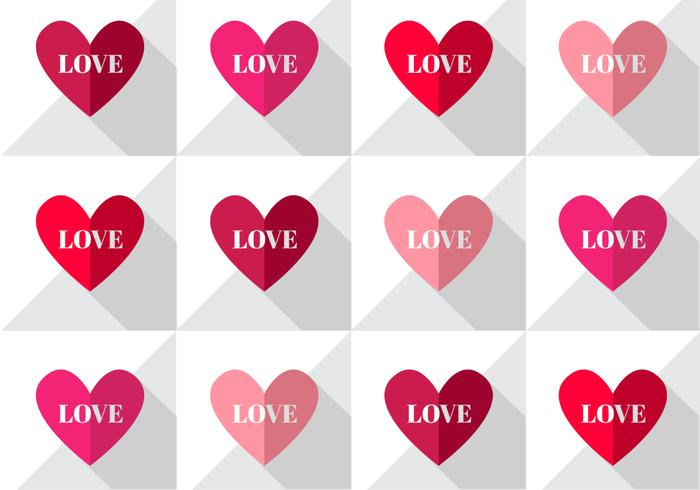 Love Hearts Pattern Vector