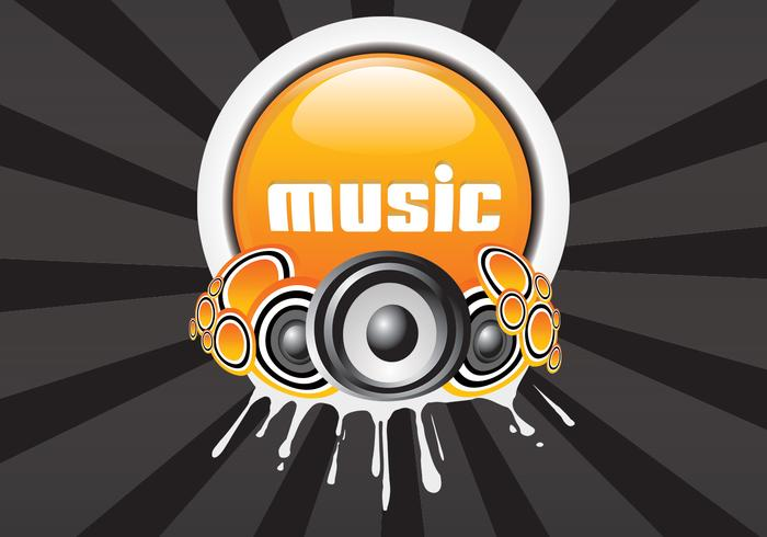 Modern Music Background Vector
