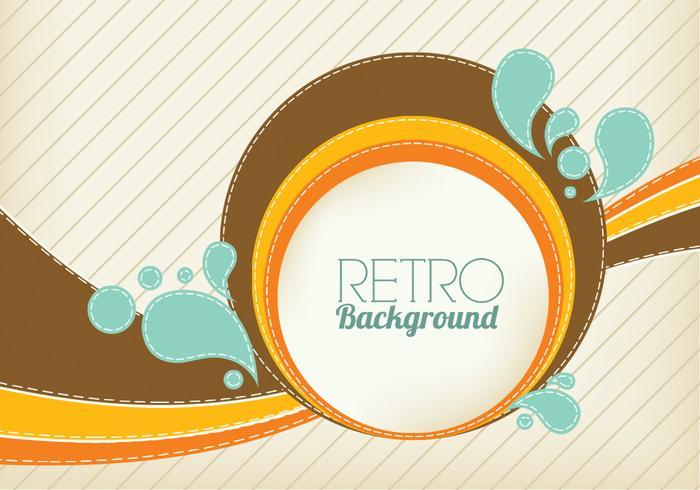 Retro Swirl Background Vector