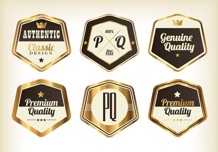 Gouden Premium Badgevectoren