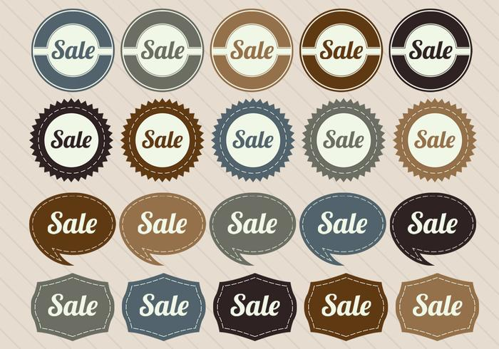 Retro Sale Badge Vectors
