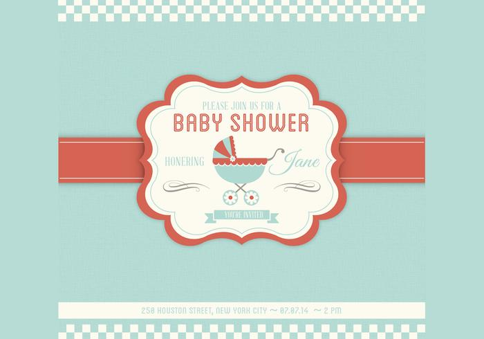 Baby Shower Vector Invitation Template  Baby Shower Invitations Free Downloadable Templates