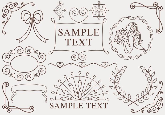 Hand getekende ornamenten vector pakket