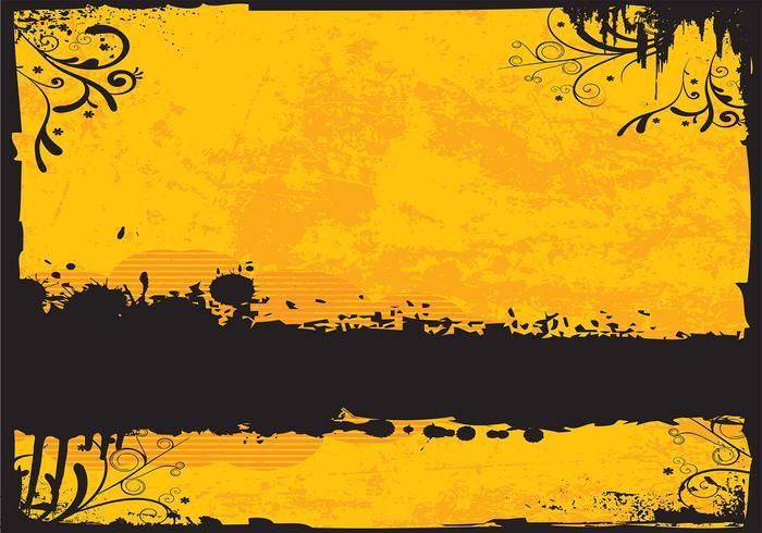 Golden Grunge Background Vector