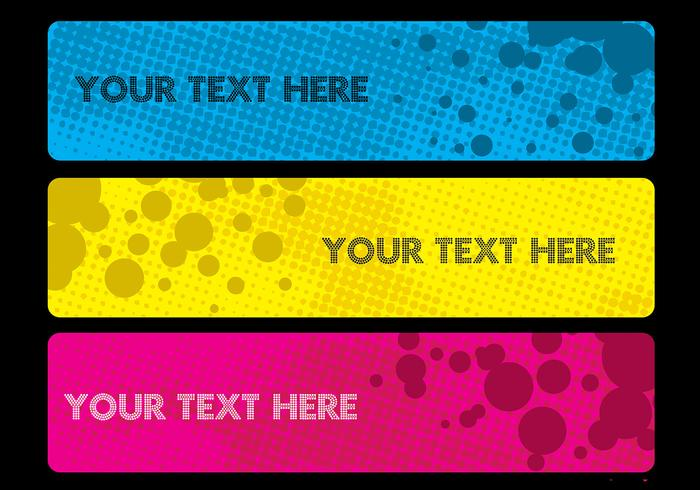 Halftone Banner Vector Pack