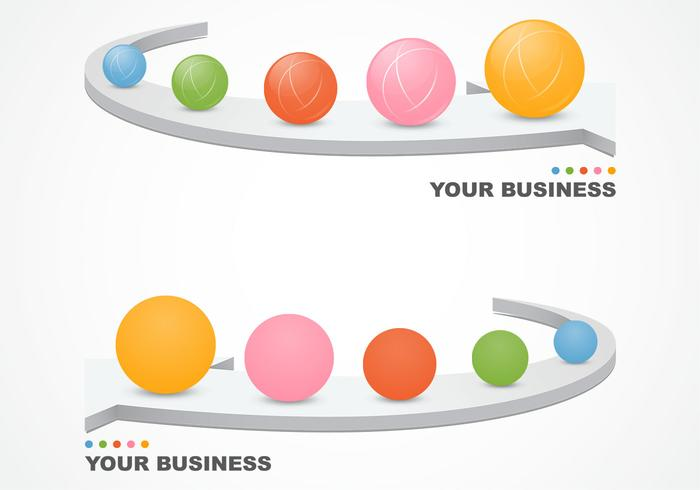 Abstract 3D Business Background Vector