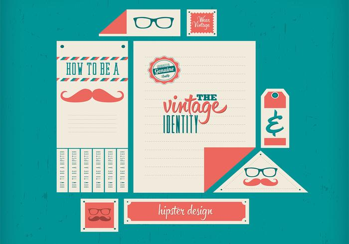 Hipster Retro Vector Identity Set