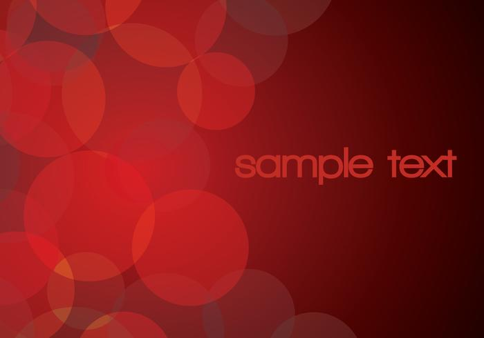 Red Glowing Circle Background Vector