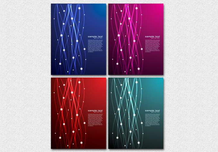 Glowing Lines Background Vector