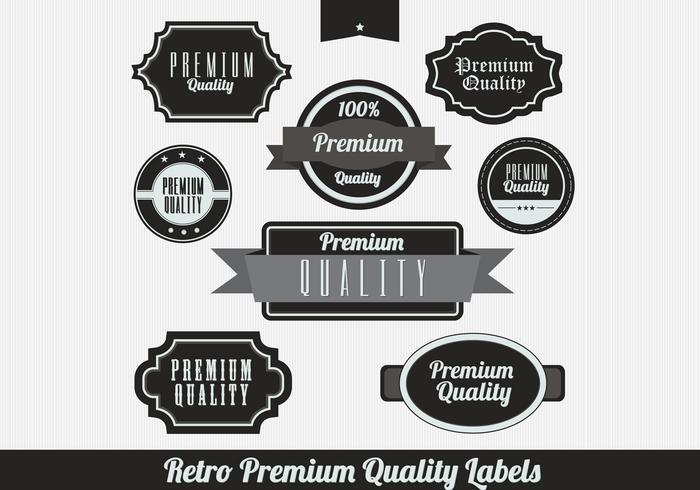 Black Retro Premium Label Vectors