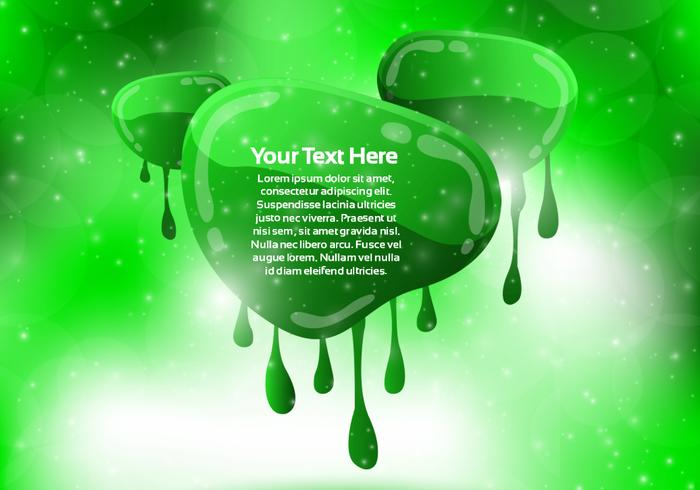 Green Dripping Banner Background Vector