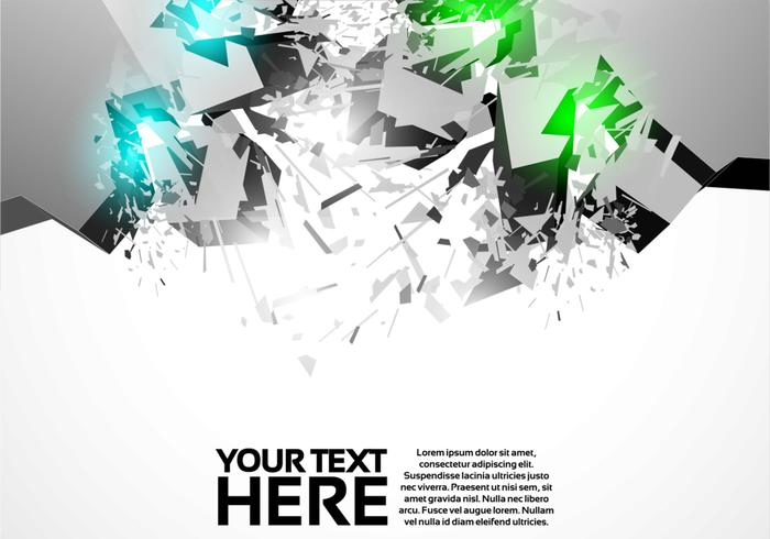 3D Shiny Explosion Background Vector