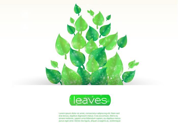 Sparkling Leaf Banner Vector