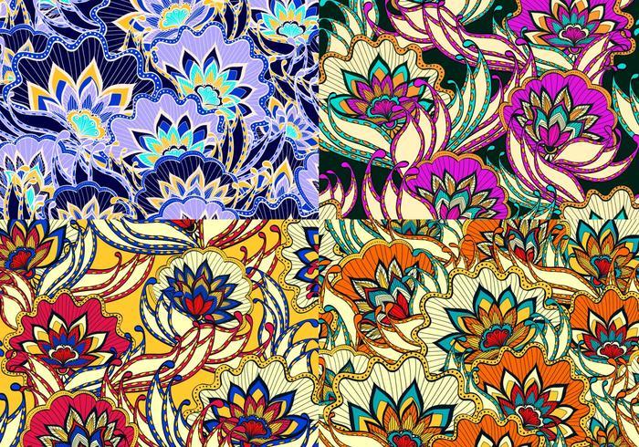 Motifs vectoriels floraux vintage