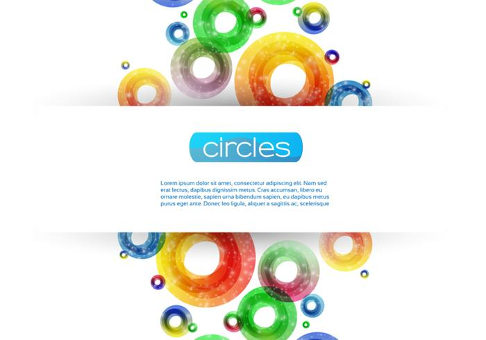 Sparkly Circle Background Vector
