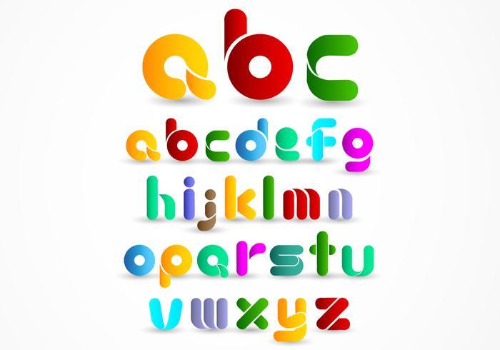 Colorful Modern Alphabet Vector