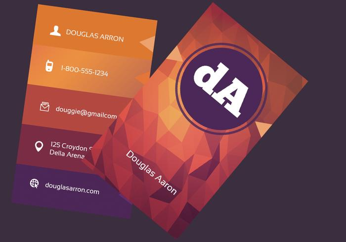 Polygonal Business Card Vector Template Download Free