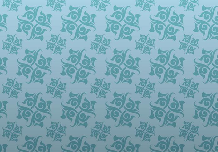 Blue Ornamental Vector Patterned Background
