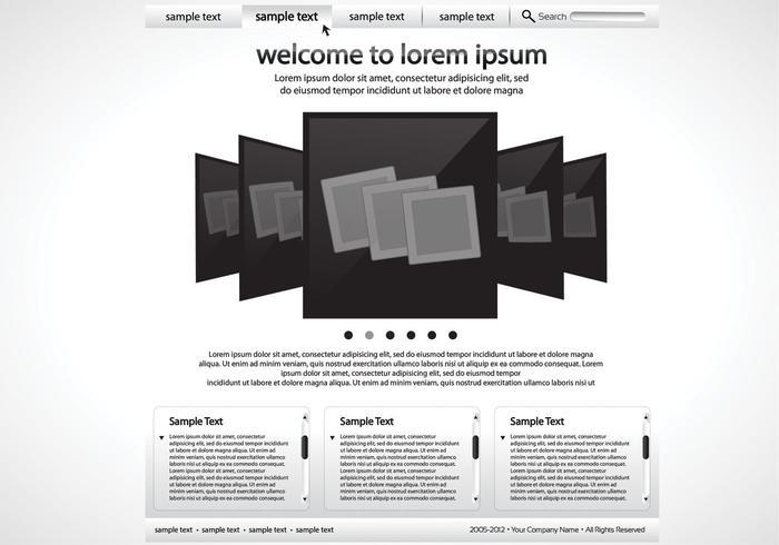 Sleek Black and White Website Vector Template