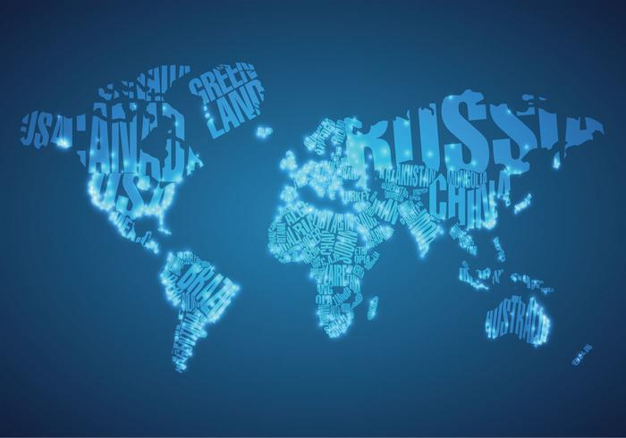 Big City Lights on World Map Vector