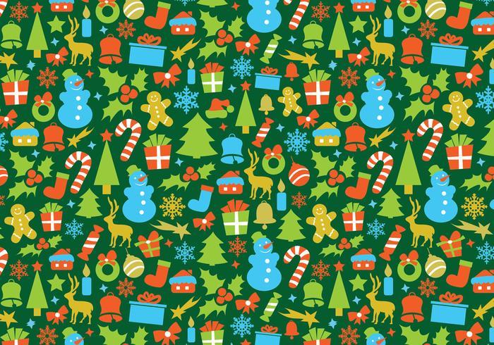 Retro Christmas Vector Pattern