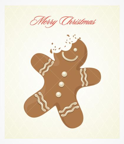 Bitten Gingerbread Vector Background
