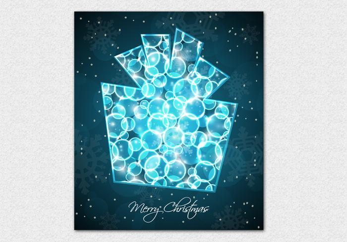 Bokeh Christmas Present Vector Background