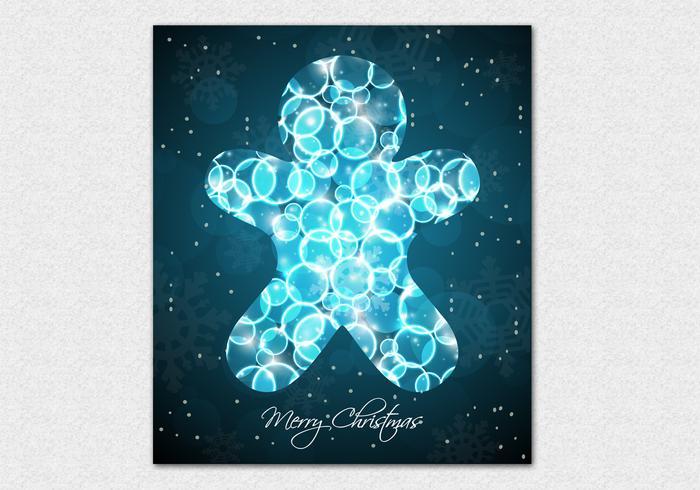 Bokeh Gingerbread Cookie Vector Background
