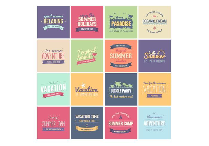 Summer Badge Vectors