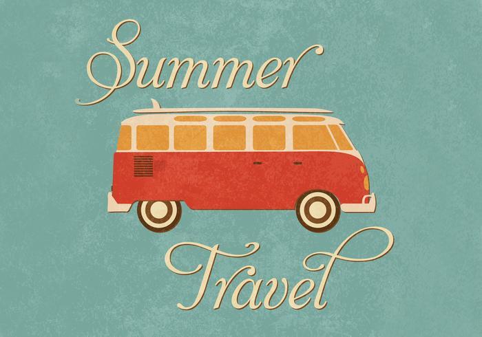 Summer Travel Wallpaper Vector