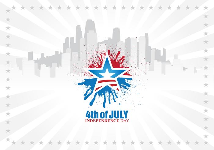 Urban Independence Day Vector