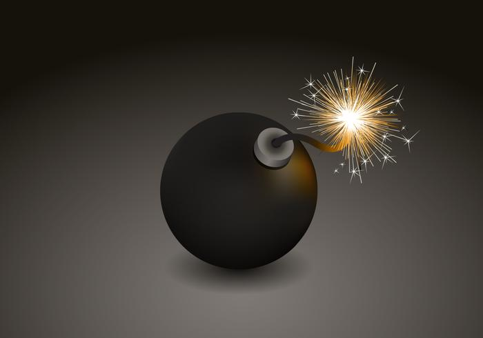 Bomb Vector Background