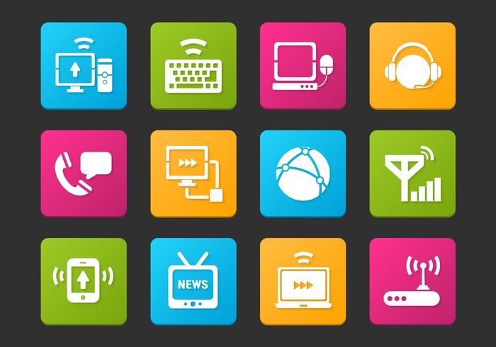 Communication Icon Vector Set