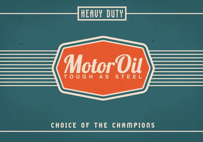 Vintage Motor Oil Background Vector