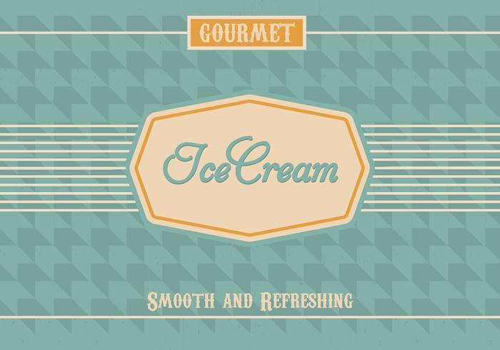 Vintage Ice Cream Vector Background