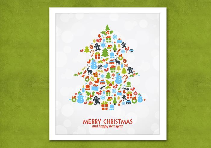 Fundo do vetor da árvore de natal Bokeh