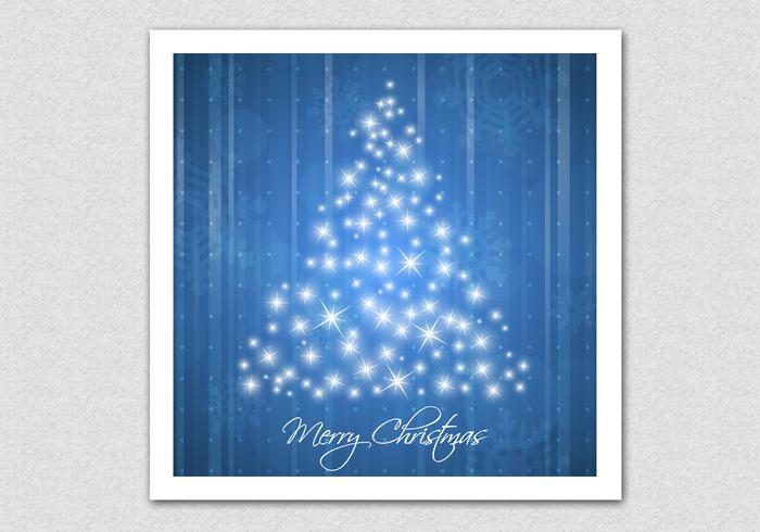 Blue Sparkling Christmas Tree Vector Background