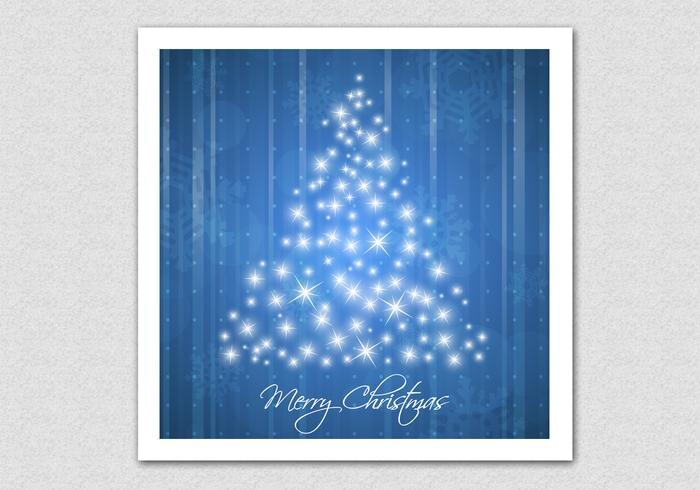 Blauwe Mousserende Kerstboom Vector Achtergrond