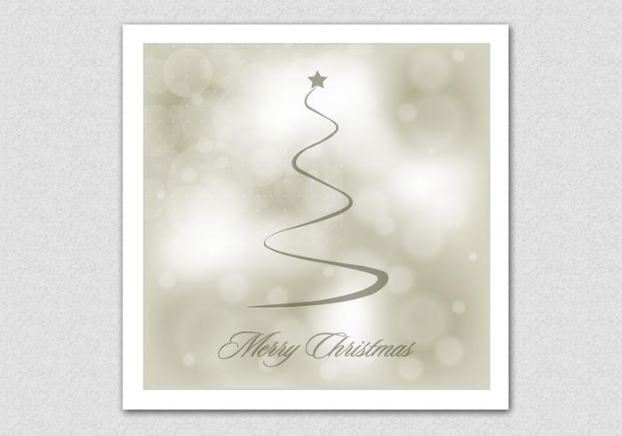 Bokeh Merry Christmas Vector Background