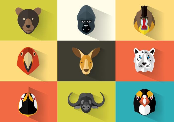 Animal Retratos Vector Pack
