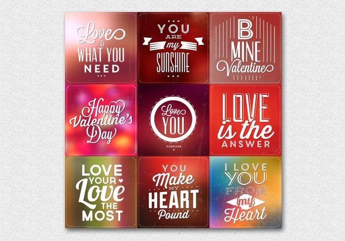 Blurry Valentine's Day Vector Backgrounds