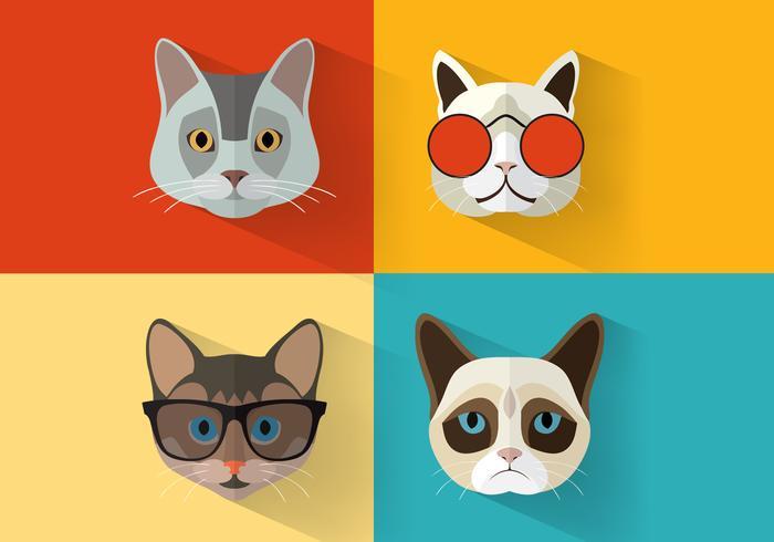 Vector de portraits de chat