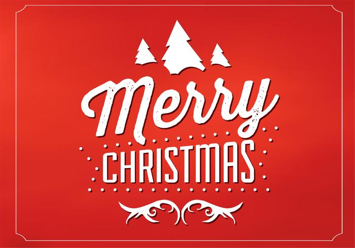 Red Merry Christmas Vector Background