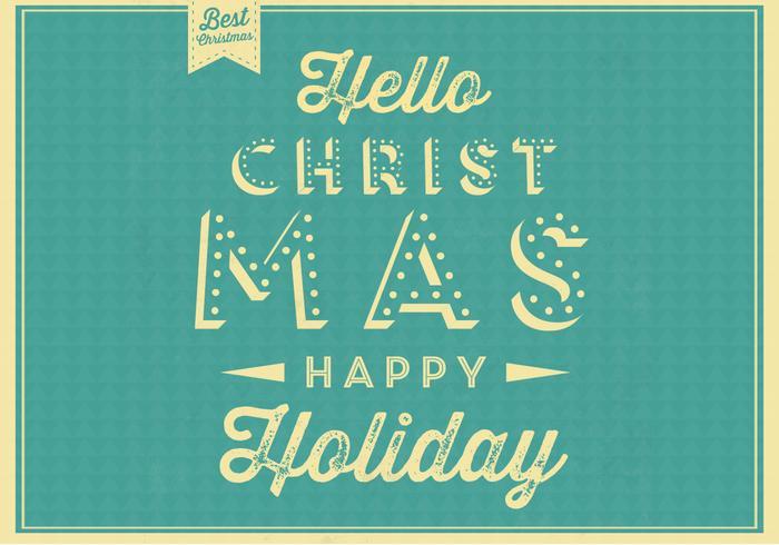 Hello Christmas Vector Background - Download Free Vector Art ...
