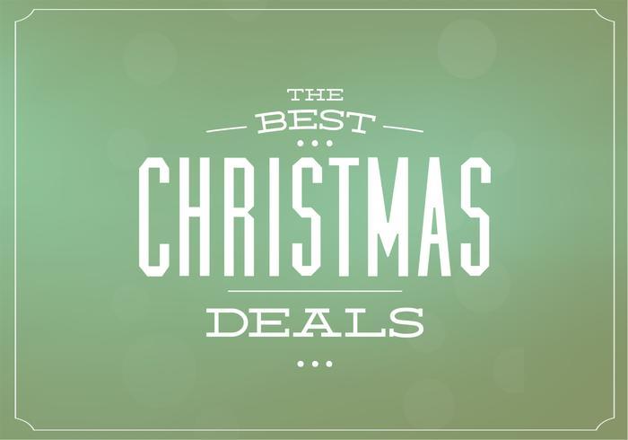 Christmas Deals Vector Background