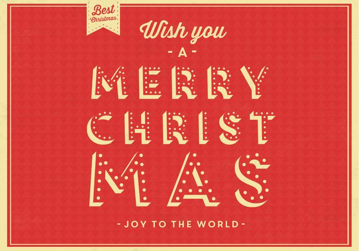 Joy to the World Christmas Vector Background