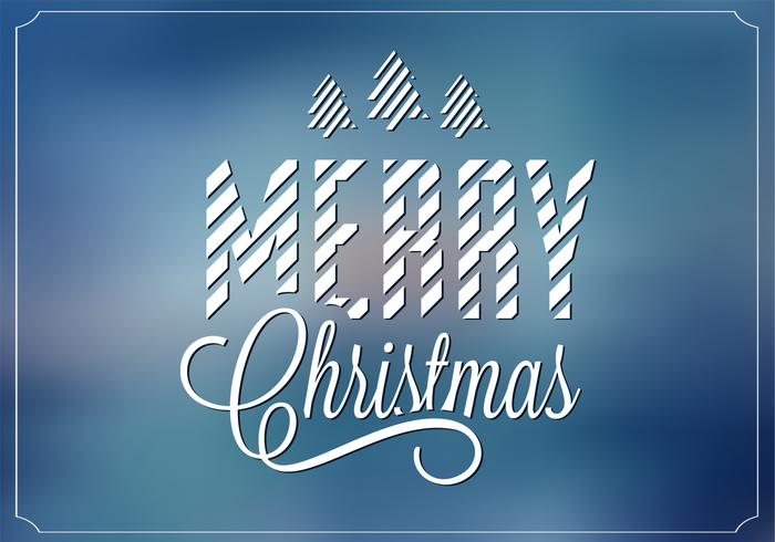 Blue Blurry Merry Christmas Vector Background