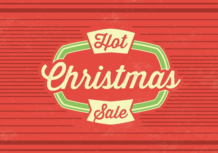 Hot Christmas Sale Vector Background