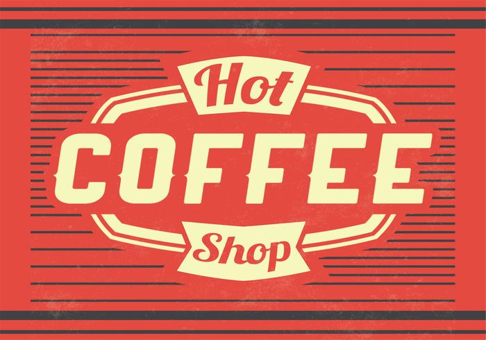 Hot Coffee Vector Background
