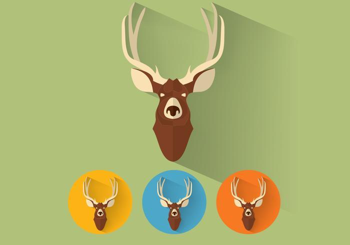 Deer Head Icons Vector Pack